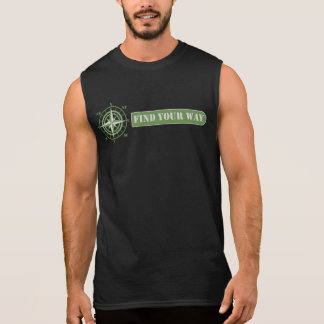 Find your way green sleeveless shirt