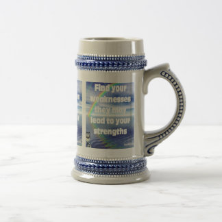 Find your weaknesses 18 oz beer stein