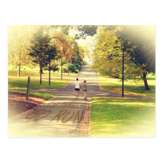 Find Yourself Go Run at Fitzroy Gardens Melbourne Postcard