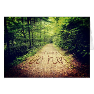 Find Yourself Go Run Inspirational Runners Quote Card