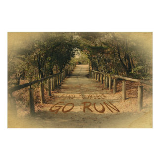 Find Yourself Go Run Park Joggers Motivational Poster