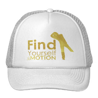 Find Yourself In Motion Hat   Gold