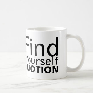 Find Yourself In Motion Mug | Black on White
