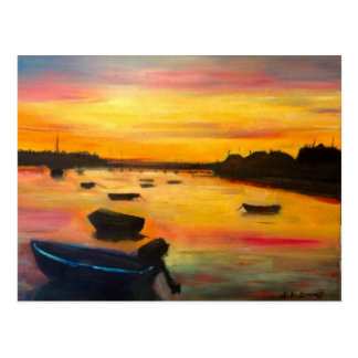 Findhorn Sunset Postcard