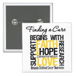 Finding a Cure For Childhood Cancer Pin