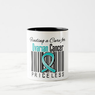Finding a Cure For Ovarian Cancer PRICELESS Two-Tone Mug