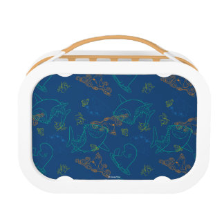 Finding Dory Sketch Navy Pattern Lunchbox