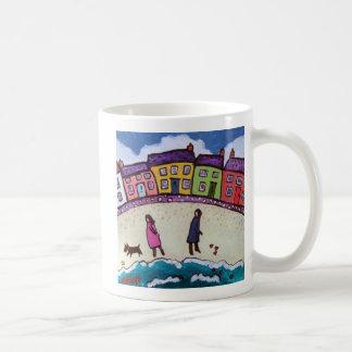 Finding love on the beach by Helen Elliott Coffee Mug