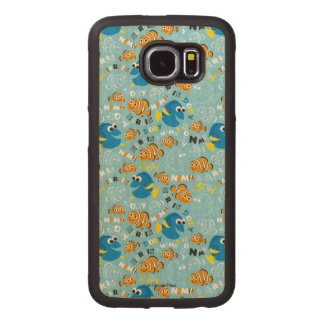 Finding Nemo | Dory and Nemo Pattern Wood Phone Case