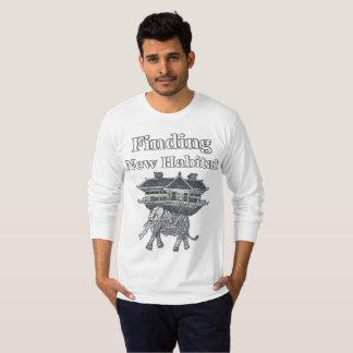 Finding New Habitat Animal Theme Men's Tshirt