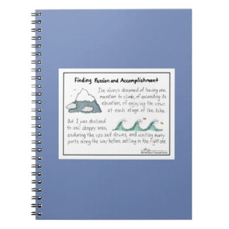 Finding Passion and Accomplishment Blue Notebook