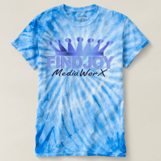 Findjoy Mediaworx Logo T-Shirt(Tye Dye Blue) T-Shirt