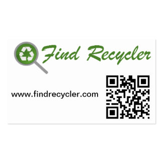 FindRecycler Physical bookmark. Business Cards