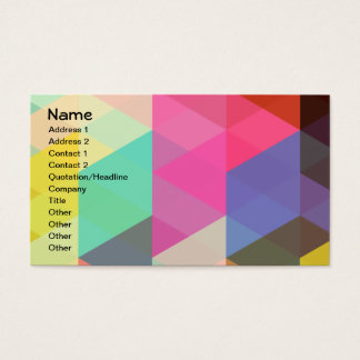 Fine Abstract Geometric Pattern Business Card