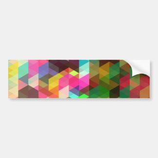Fine Abstract Geometric Retro Fashion Bumper Sticker