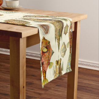 Fine Art Boxfish - Art Forms of Nature Haeckel Short Table Runner