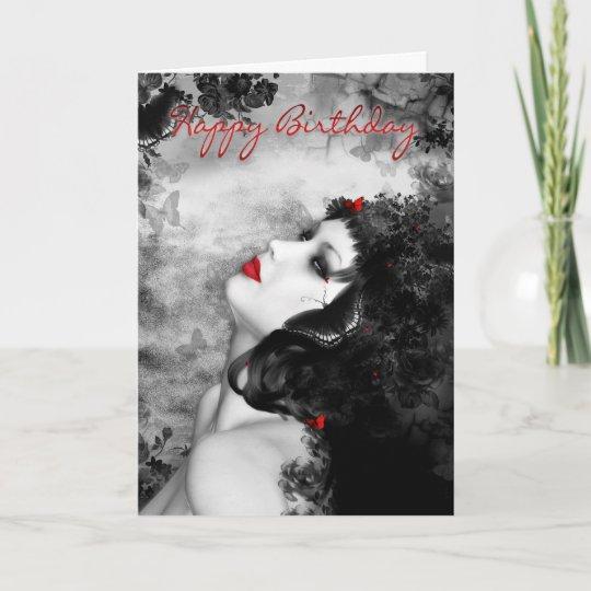 Fine Art Butterfly Princess Birthday Card
