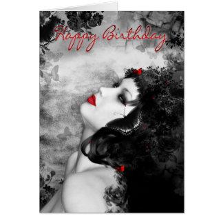 Fine Art Butterfly Princess Birthday Card - Modern