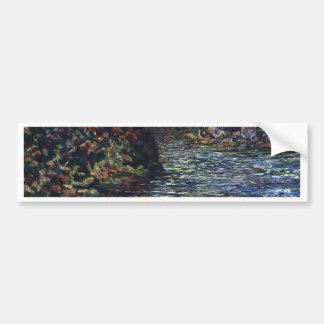 Fine Art Card Impressionistic Landscape Bumper Sticker