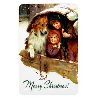 Fine Art Christmas Gift Magnet