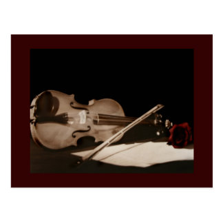 Fine Art Classic Violin Sweet Melondy Postcard