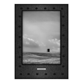 Fine Art, Contemplation, faux riveted steel Poster