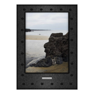 Fine Art, Contemplation Two, faux riveted steel Poster