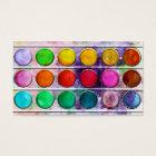 Fine Art Fun Colourful Paint Colour Box Business Card