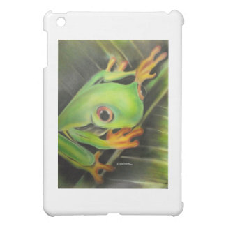 fine art green frog iPad mini cover