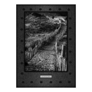 Fine Art, Journey Made, faux riveted steel Poster