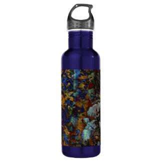 Fine Art Leaves Large Water Bottle