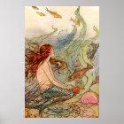 Fine Art Mermaid Ilustration Poster