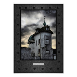 Fine Art, Mindful of Storms, faux riveted steel Poster