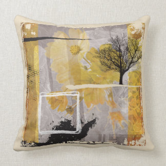 Fine Art of Winter Smell Touching the Lonely Tree Throw Pillow