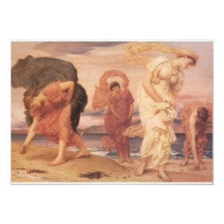 Fine art of Women by the Ocean 13 Cm X 18 Cm Invitation Card