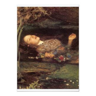 Fine art Ophelia painting 13 Cm X 18 Cm Invitation Card