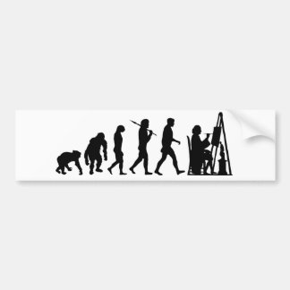 Fine Art Painter painting with oil or water paint Bumper Sticker