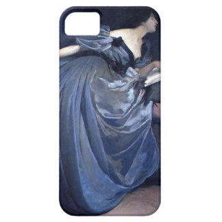 Fine art painting Althea blue woman fashion iphone Barely There iPhone 5 Case