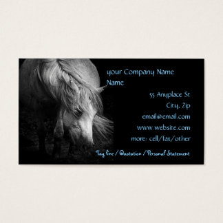 Fine Art Pony Head and Mane Business Card