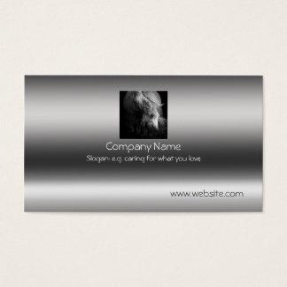 Fine Art Pony Head and Mane on metallic-effect Business Card
