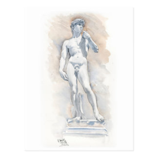 Fine Art Postcard- David sculpture by Michelangelo Postcard