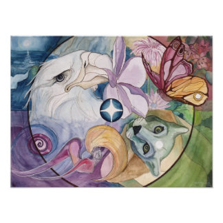 "Fine Art Print: ""Essence Wheel"" Poster"