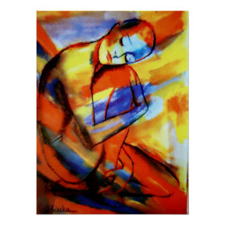 Fine Art Prints Contemporary Art Peaceful Flow Poster