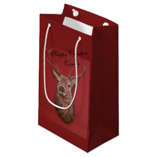 Fine Art red Deer Stag Gift Bag