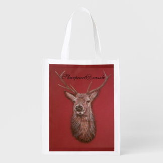 Fine Art red Deer Stag reuseable Bag