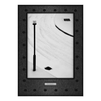 Fine Art, Relationships, faux riveted steel Poster