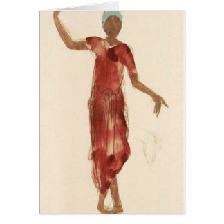 Fine Art ~ Rodin's Cambodia Dancer c1906 Card