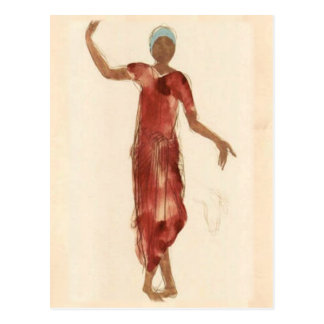 Fine Art ~ Rodin's Cambodia Dancer c1906 Postcard
