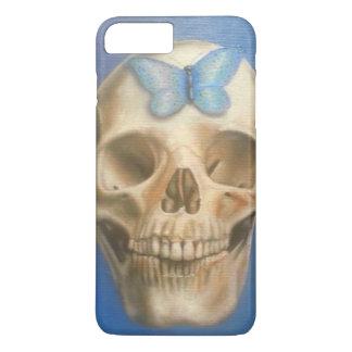 Fine art skull painting purple phone case