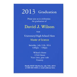 Fine art Starry Night graduation party 13 Cm X 18 Cm Invitation Card